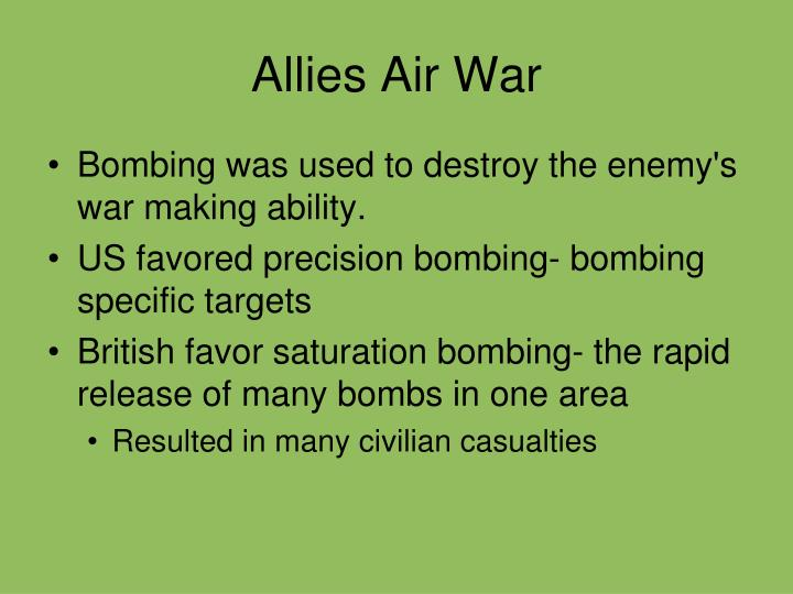 Allies Air War