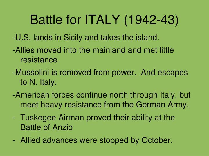 Battle for ITALY (1942-43)