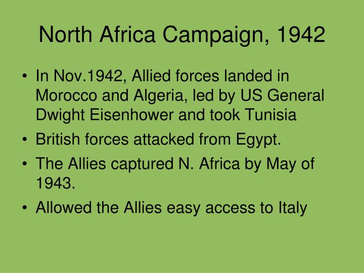 North Africa Campaign, 1942