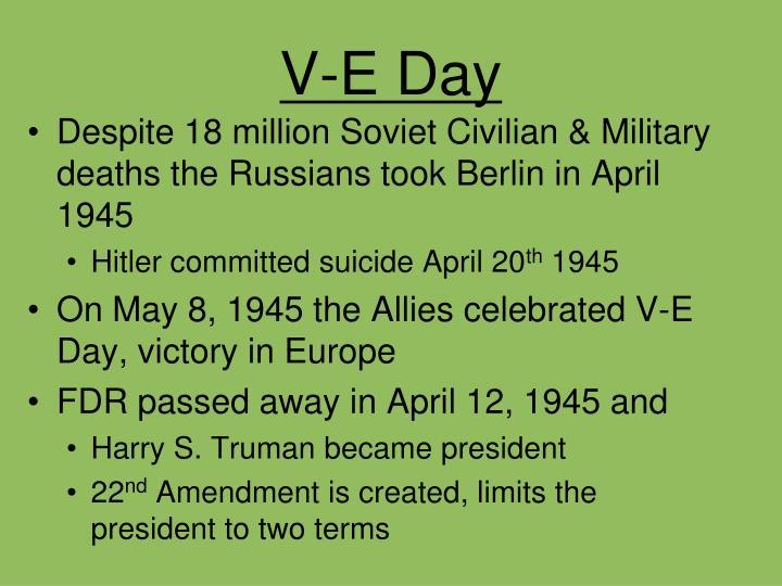 V-E Day