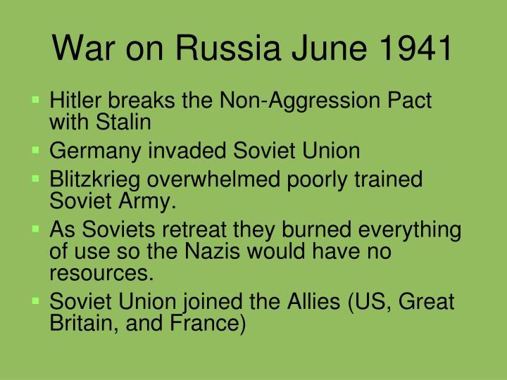 War on Russia June 1941