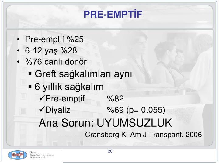 PRE-EMPTİF