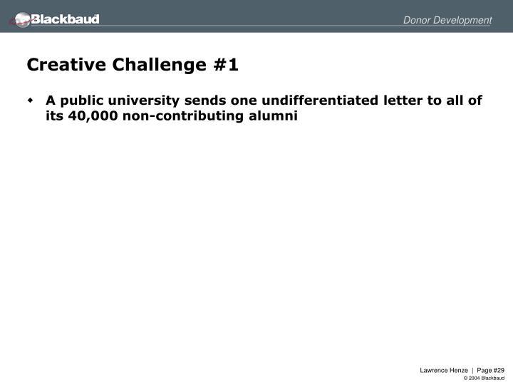 Creative Challenge #1