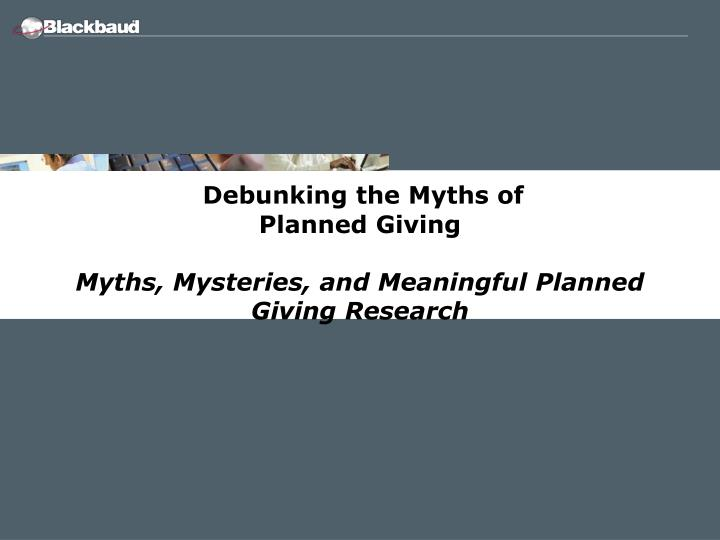 Debunking the Myths of