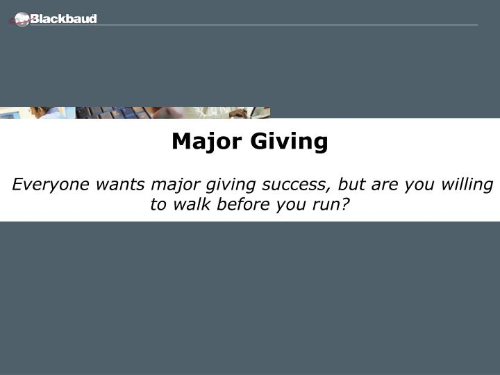 Major Giving
