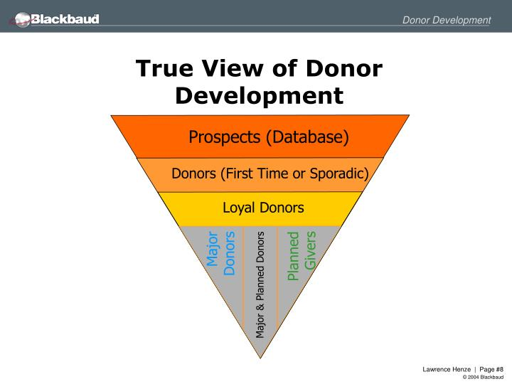True View of Donor Development