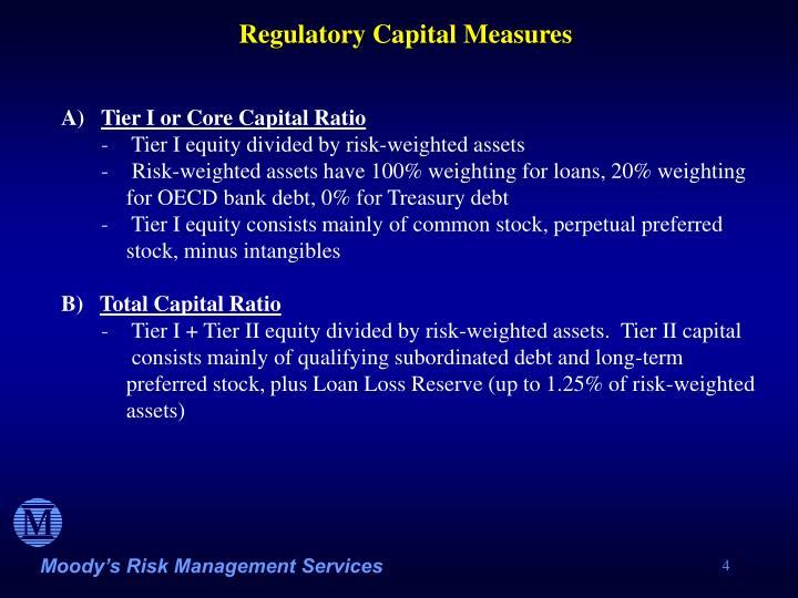 Regulatory Capital Measures