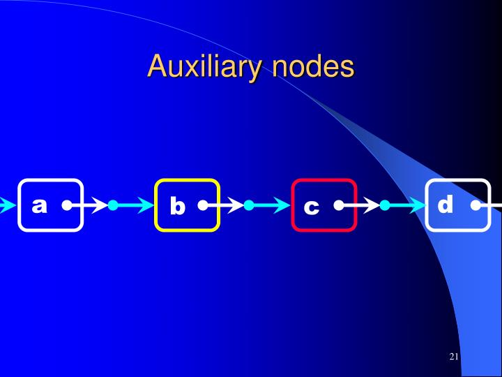 Auxiliary nodes