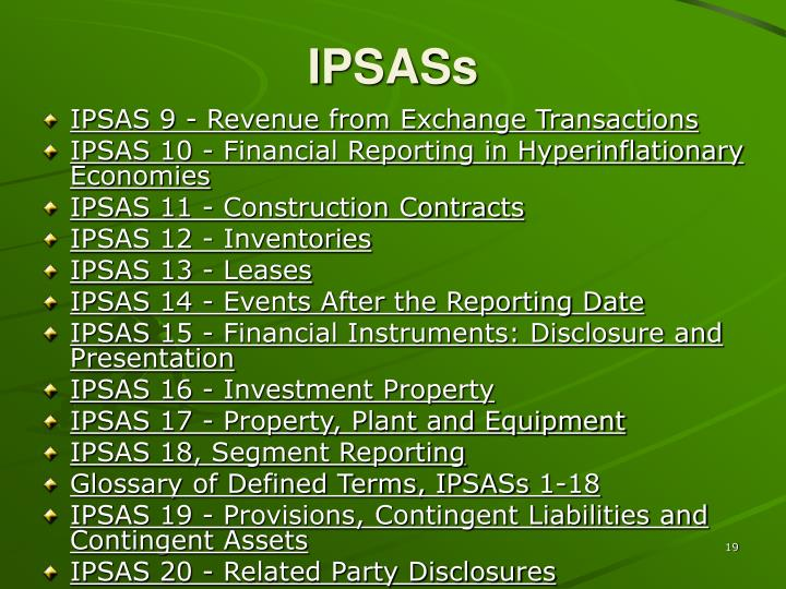 IPSASs