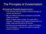 the principles of existentialism1