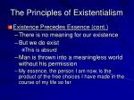 the principles of existentialism2