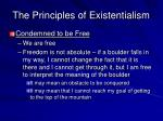 the principles of existentialism9