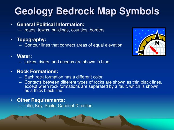 Geology Bedrock Map Symbols