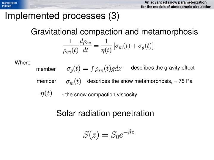 Gravitational compaction and metamorphosis