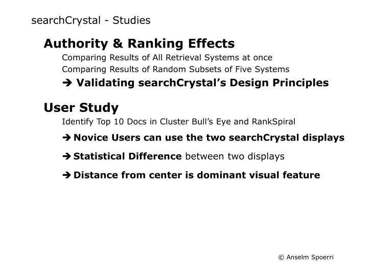 searchCrystal - Studies