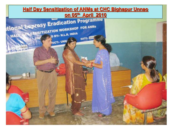 Half Day Sensitization of ANMs at CHC Bighapur Unnao
