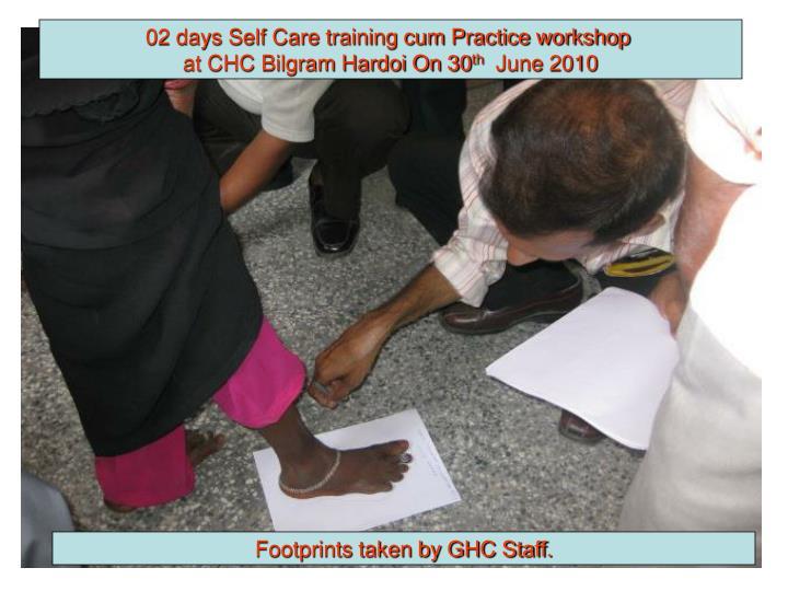 02 days Self Care training cum Practice workshop