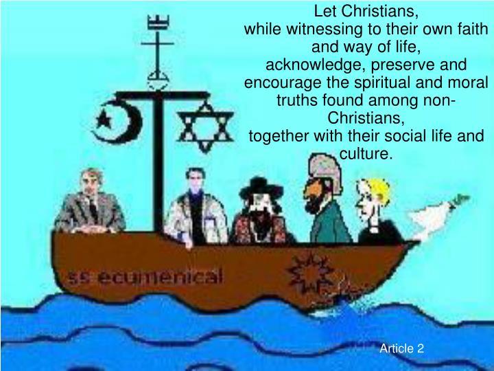 Let Christians,