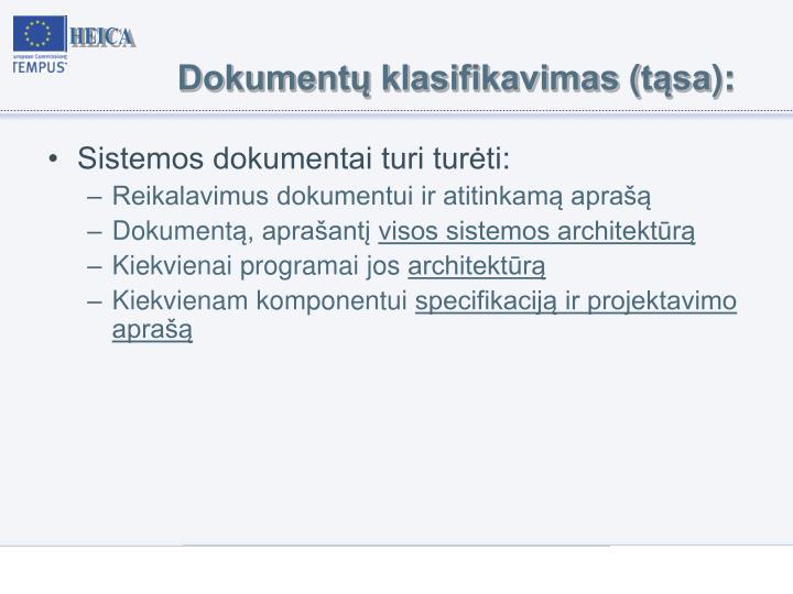 Dokumentų klasifikavimas