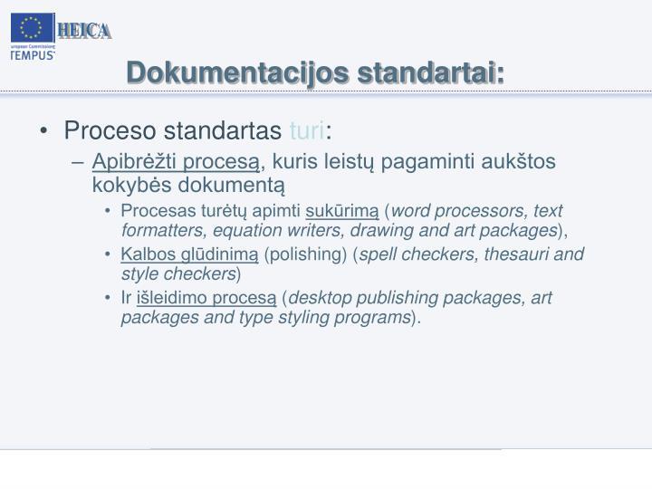 Dokumentacijos standartai