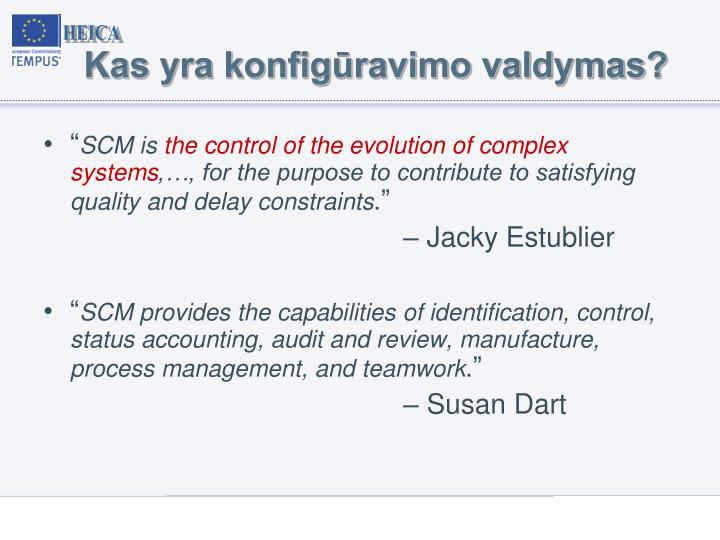 Kas yra konfigūravimo valdymas?