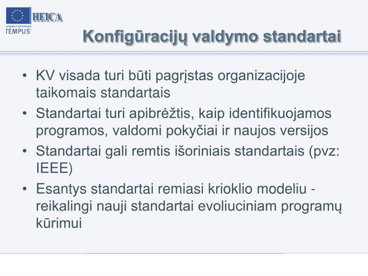 Konfigūracijų valdymo standartai