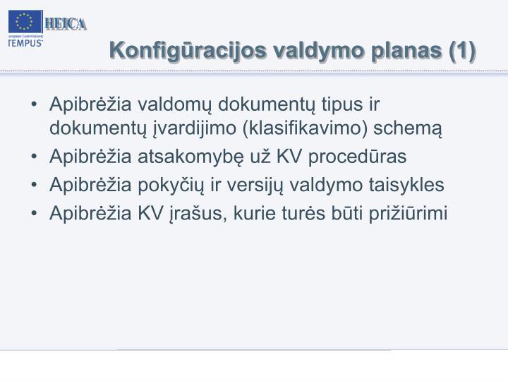 Konfigūracijos valdymo planas (1)