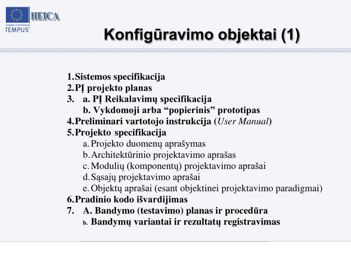 Konfigūravimo objektai (1)
