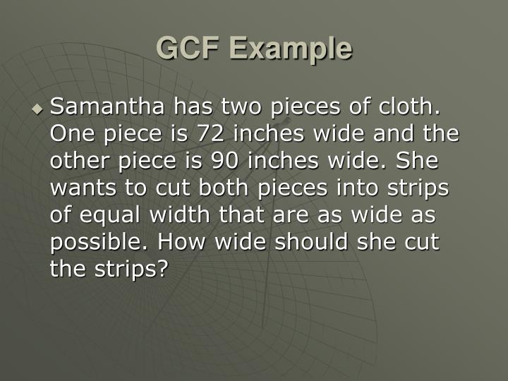 GCF Example