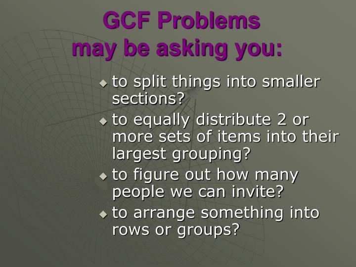 GCF Problems