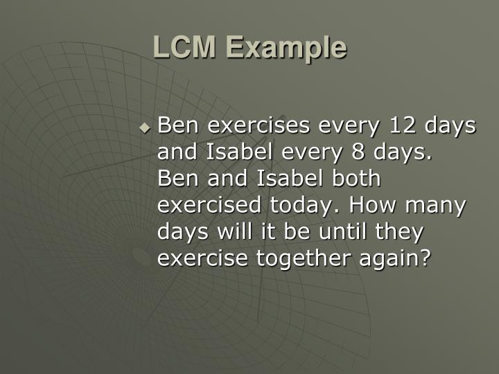 LCM Example