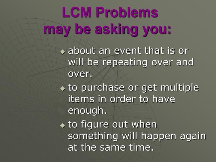 LCM Problems