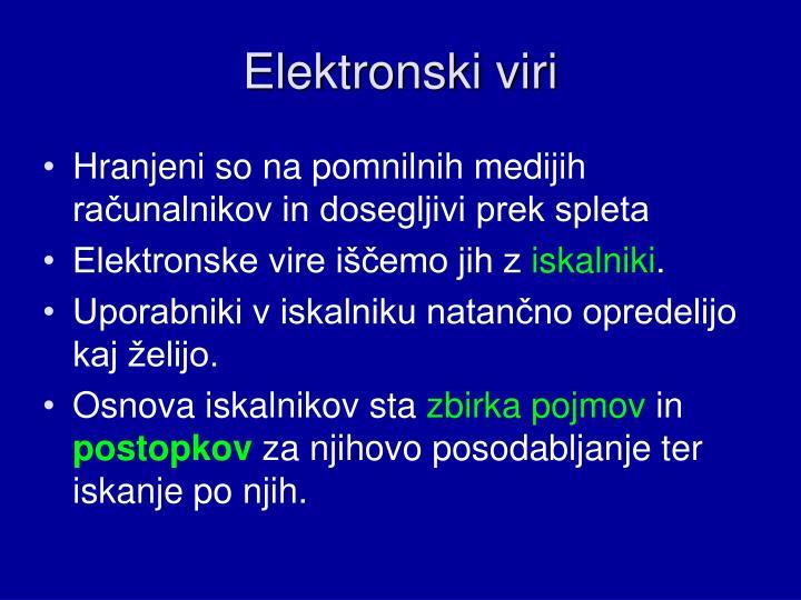 Elektronski viri