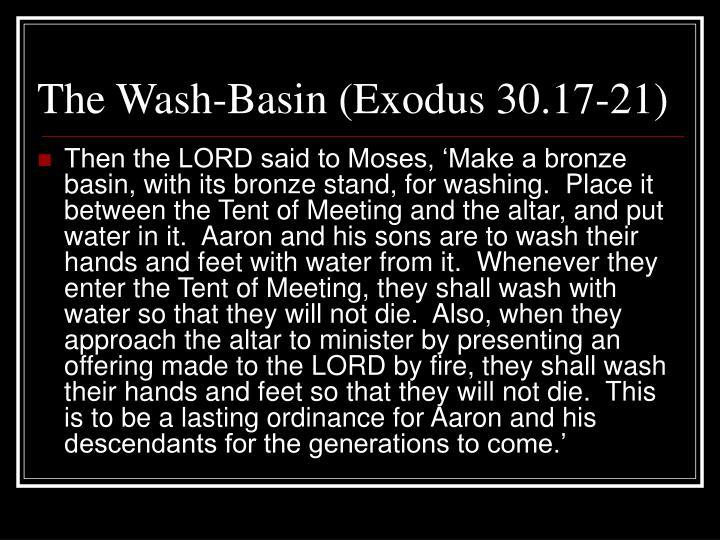 The Wash-Basin (Exodus 30.17-21)