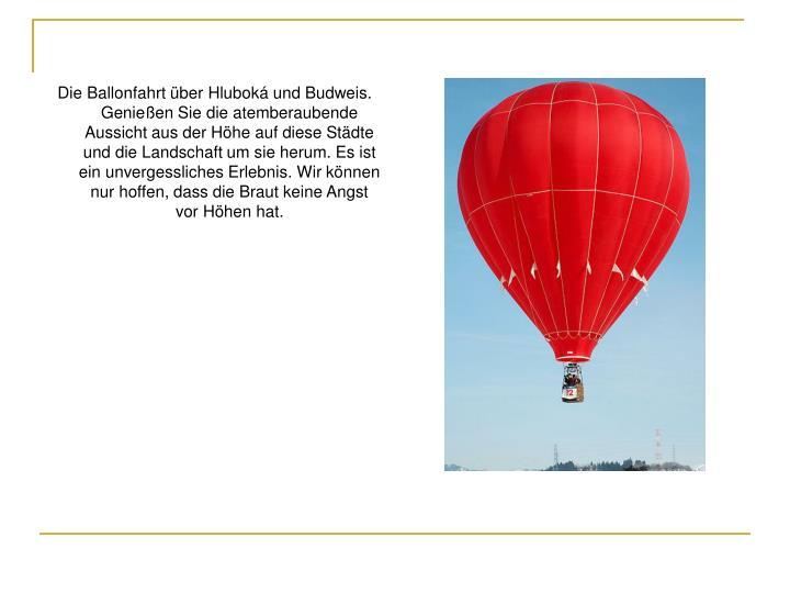 Die Ballonfahrt über