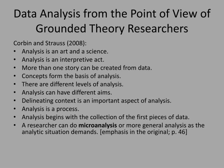Data Analysis from the Point of View of Grounded Theory Researchers