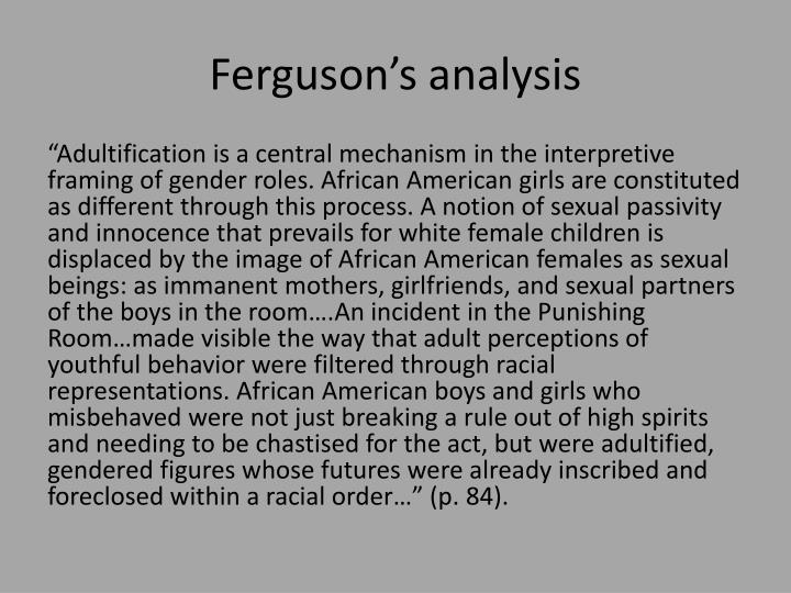 Ferguson's analysis