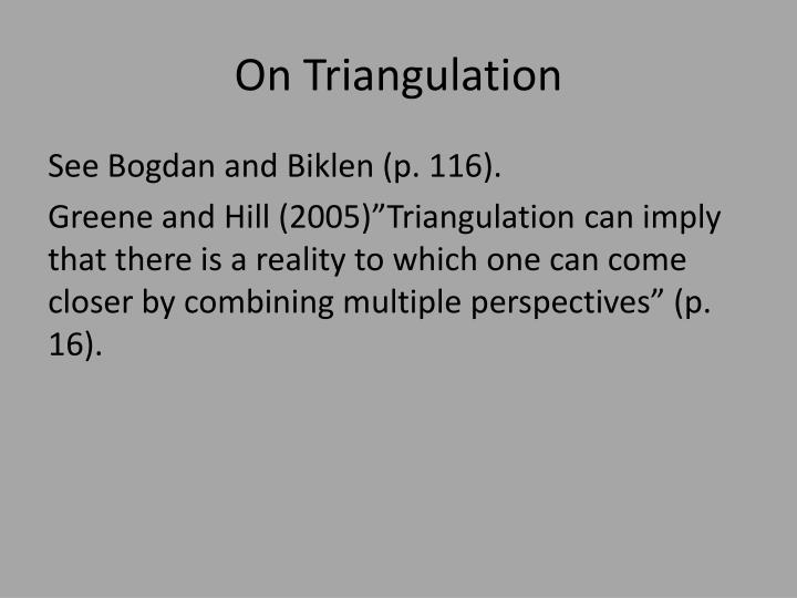On Triangulation