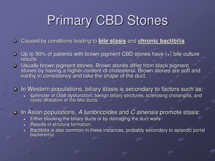Primary CBD Stones