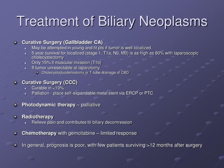 Treatment of Biliary Neoplasms