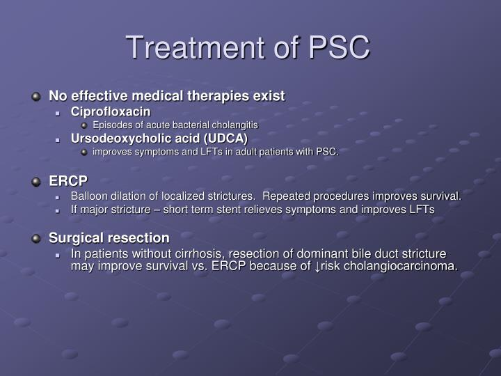 Treatment of PSC