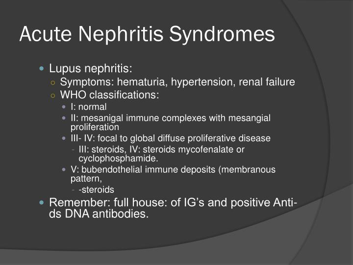 Acute Nephritis Syndromes