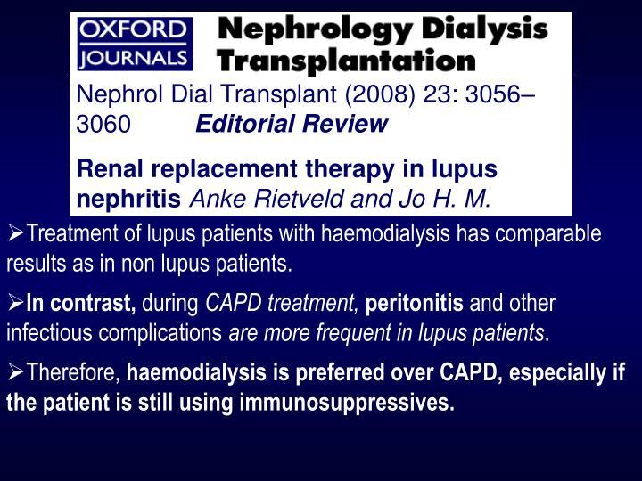 Nephrol Dial Transplant (2008) 23: 3056–3060
