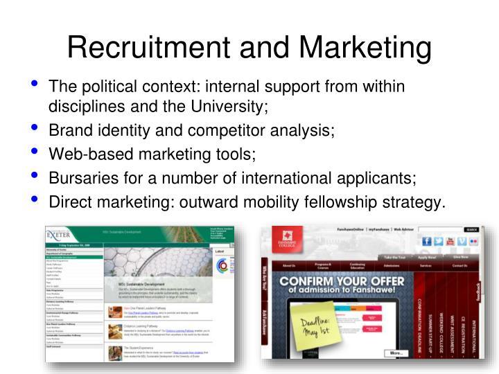 Recruitment and Marketing