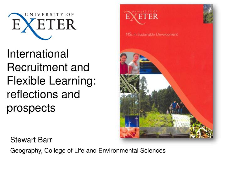 International Recruitment and Flexible Learning: reflections and prospects