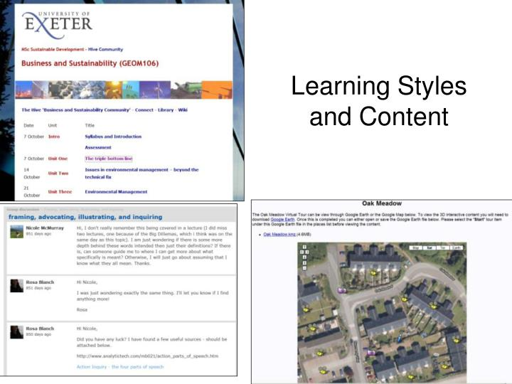 Learning Styles and Content