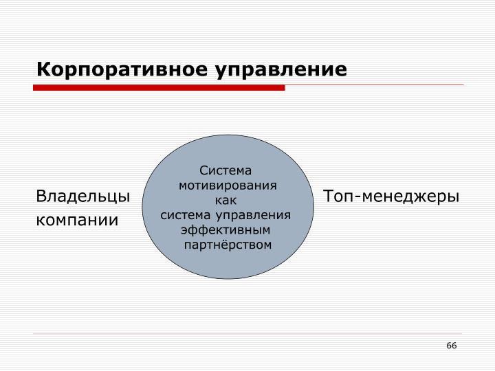 Корпоративное управление