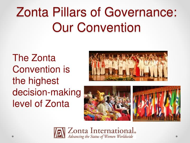 Zonta Pillars of Governance: