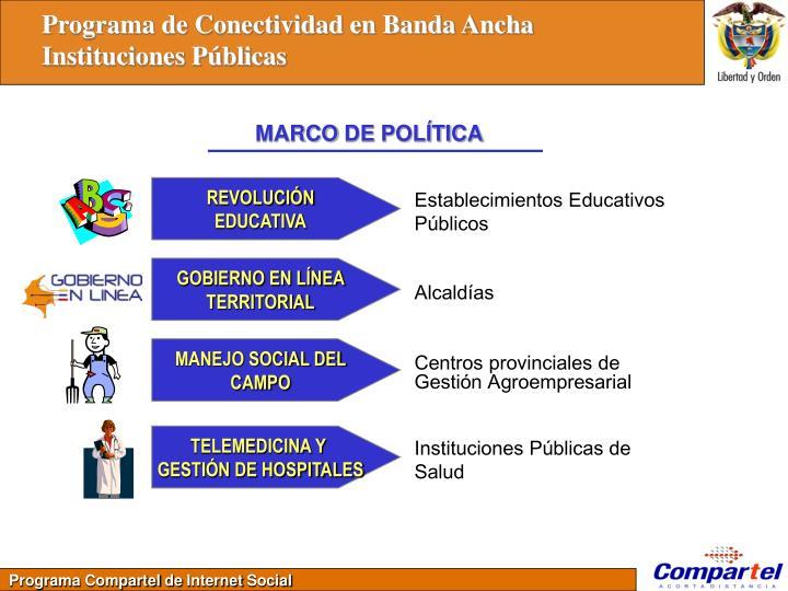 Programa de Conectividad en Banda Ancha
