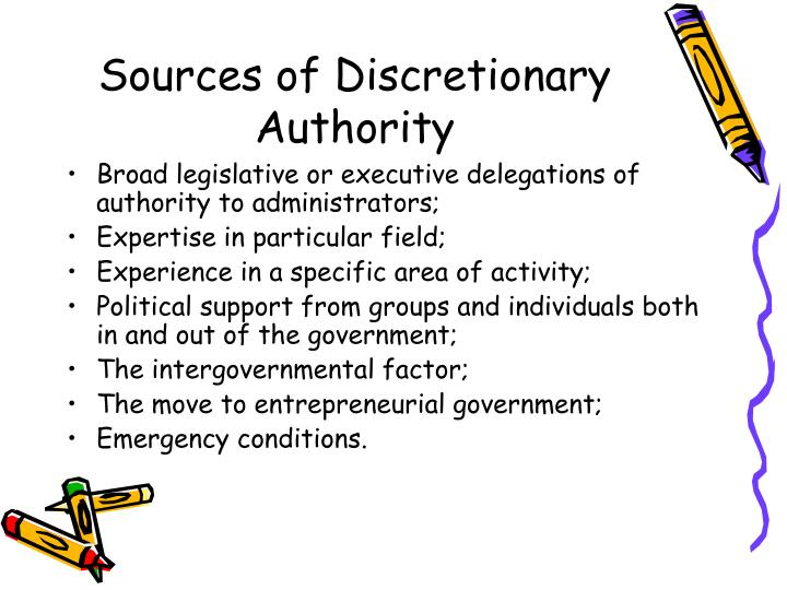discretionary authority Discretionary authority meaning, definition, english dictionary, synonym, see also 'discretion',discriminatory',diversionary',direction', reverso dictionary, english.